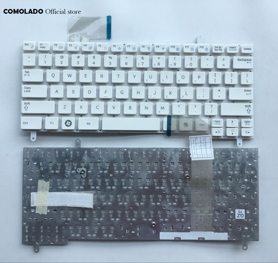 US English Keyboard For SAMSUNG N210 N220 N220P N315 N260 white laptop keyboard US Layout