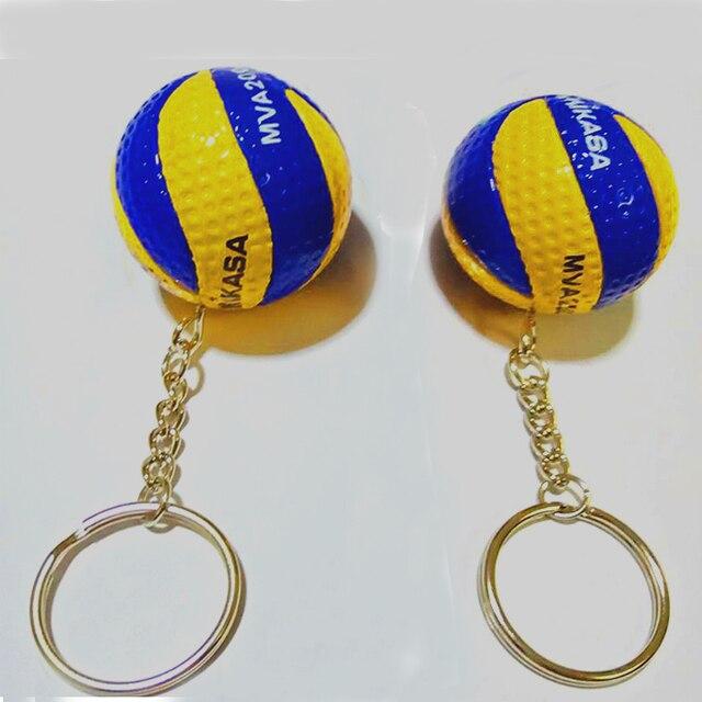Deporte playa voleibol PVC llavero llaveros cadena anillo Fútbol Playa llavero regalos hombres joyería llavero llaveros regalo