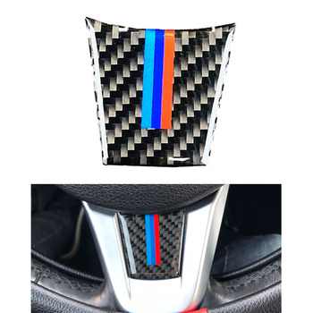 3D Carbon Fiber Steering Wheel M Decoration Cover Sticker Interior Trim For 09~2015 BMW E89 Z4 New image