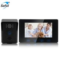 7 Color TFT LCD Wired Video Door Phone Door Intercom Waterproof With Night Vision For Home
