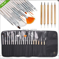 20 Pieces Nail Art Decorations Brush Set Tools kits Acrylic Professional Painting Pen for False Nail Tips UV Nail Gel Polish