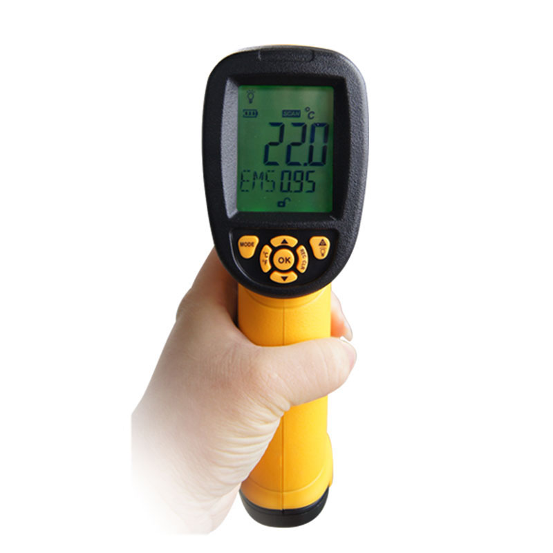 AS872 Digital Non-contact -18-1350C LCD display IR laser infrared thermometer Temperature measurement VS GM1350  цены
