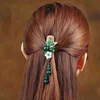 Vintage handmade Schmuck metall Schmetterlings-haar-claws naturstein Haarspange Für Frauen Mädchen Modeschmuck Zubehör
