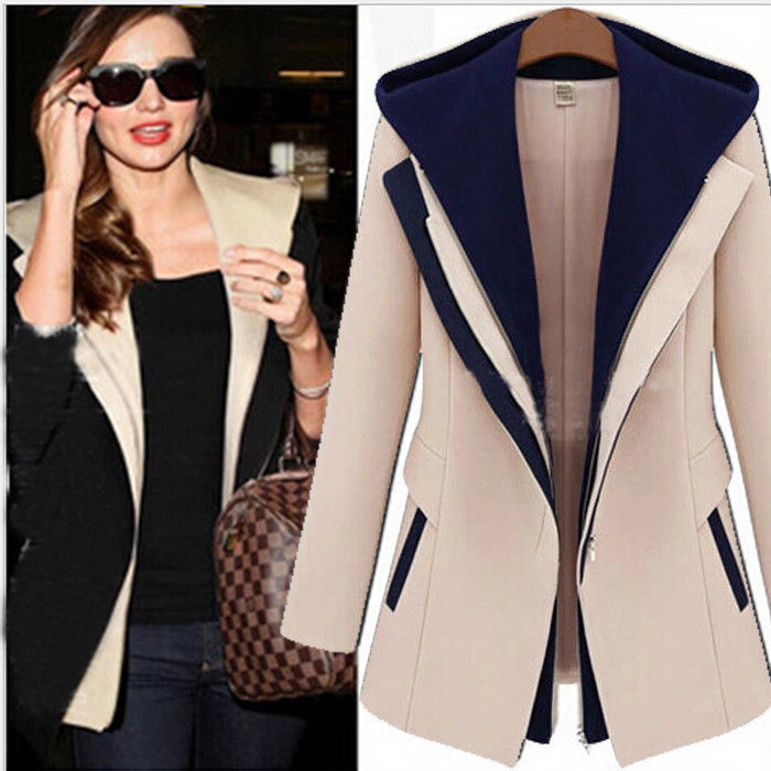 women spring autumn college jacket coats ladies fall jackets for ...