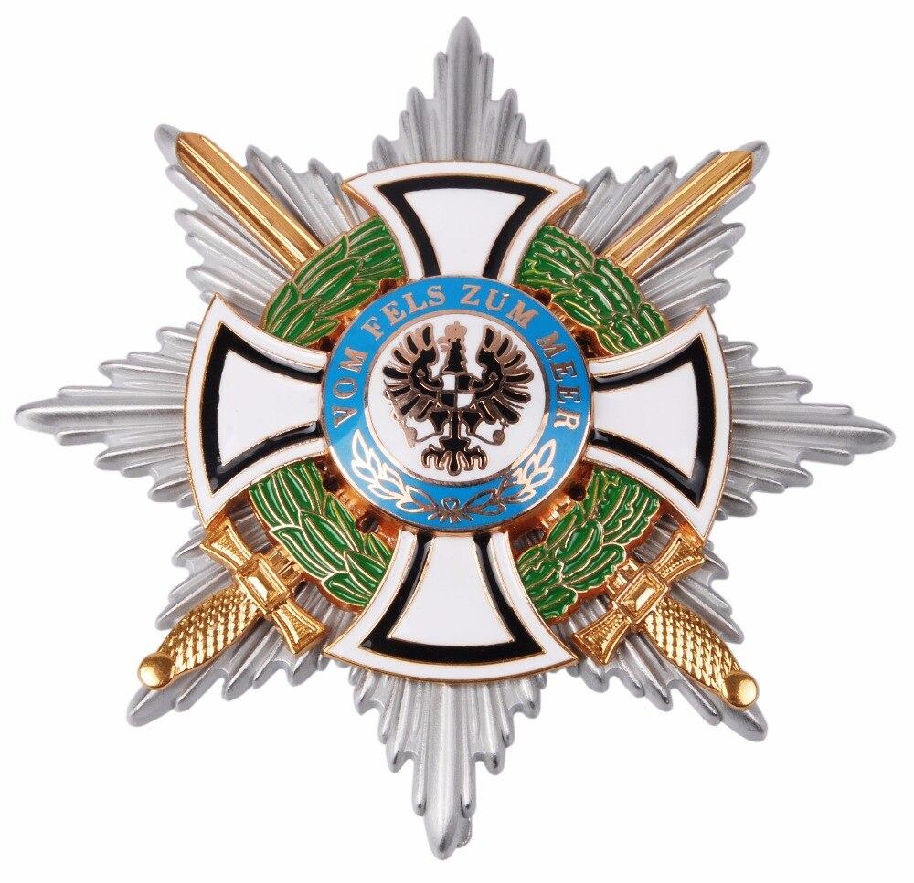 WW1 WWI GERMAN HOHENZOLLERN ROYAL HINDENBURG STAR IRON CROSS MEDAL BADGE