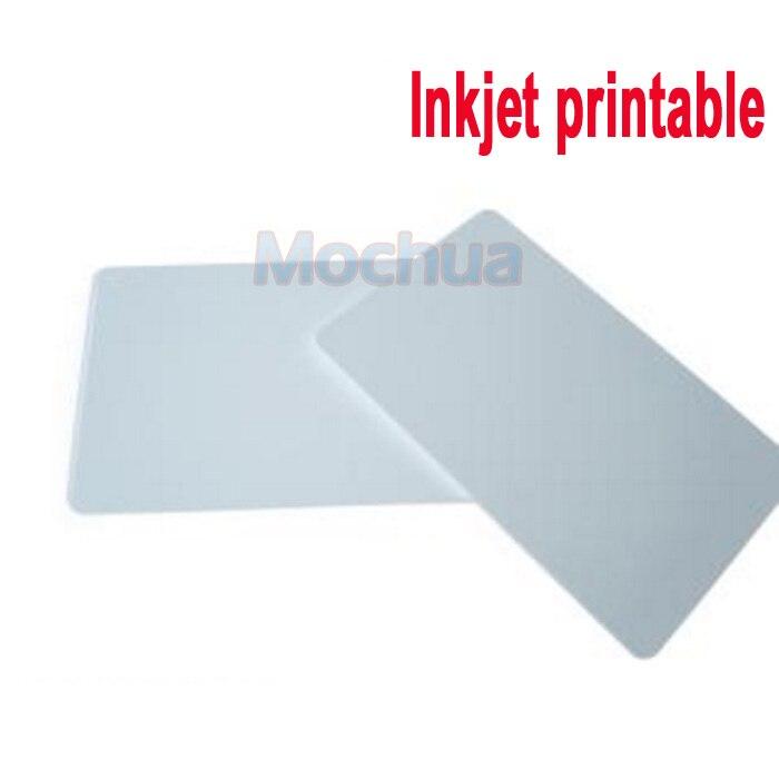 50pcs/lot Ntag 215 Inkjet Printable Card NTAG215 Blank Card For Espon Printer, Canon Printer