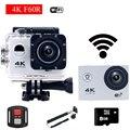 Estilo gopro hero 4 f60r wifi action camera 4 k com Controlador remoto ir pro Capacete De Mergulho Mini Cam À Prova D' Água Esporte câmera