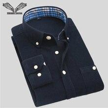 Visada jauna Мужская рубашка Новое поступление 2017 года одноцветное Цвет вельветовое платье в деловом стиле Повседневная брендовая одежда Camisa социальной masculina N343