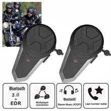 2018 2 pz BT-S3 Casco Del Motociclo di Bluetooth Headset Citofono 3 Piloti 1000 m Wireless Intercomunicador GPS FM MP3 BT Interphone