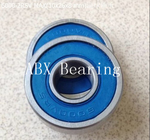 6000-2RSV MAX 6000RS 6000 Soft tail turning point ball bearings and hub bearings 10x26x8mm full complement without cage