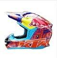 Colores mezclados Material ABS Cascos de Motocross MX Toro Rojo Profesional Casco de Moto Capacete