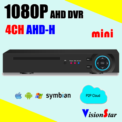 Security CCTV dvr recorder 4ch AHD-H 1080P hybrid 5 in 1 support CVI TVI AHD IP CVBS new dvr 4 channel h 264 4ch full d1 real time recording support network mobile phone cctv dvr recorder 4ch security dvr