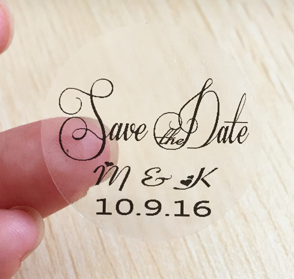 120 Pieces 3cm Customize Personalized Wedding Birthday Baby Shower Thank You Invitation Envelope Sticker Save The
