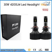 P7 2PCS 4200LM 30W 9012 LEDs Car Headlights Bulb 6000K Lamp Waterproof DC12-24V
