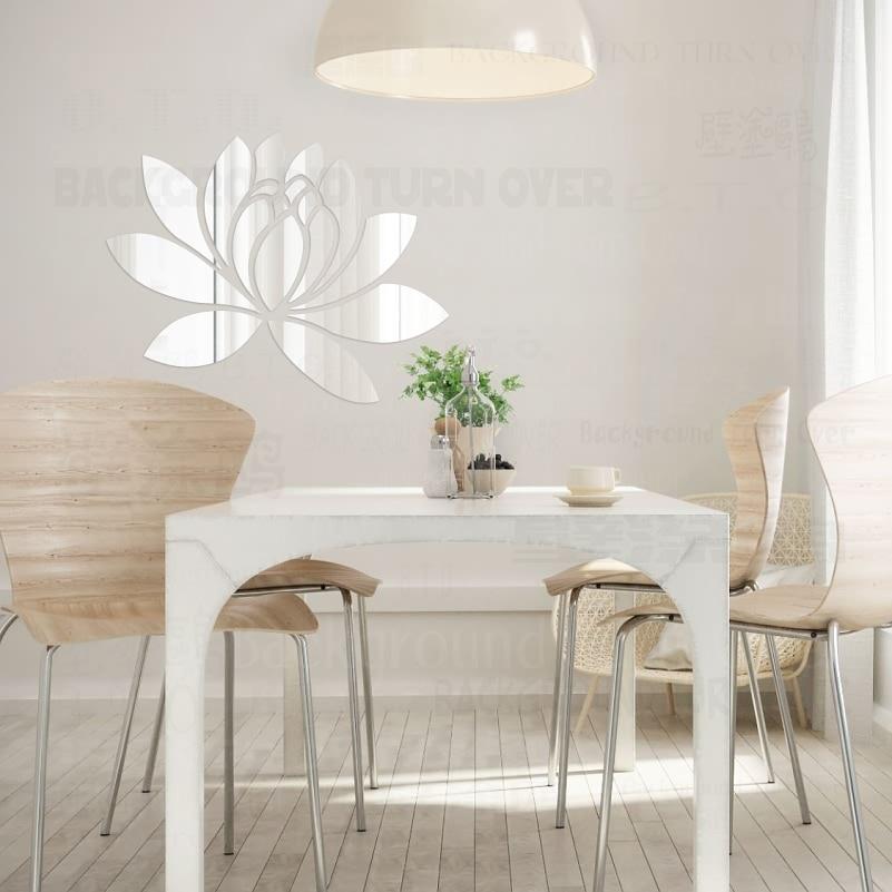 Ustvarjalno eleganten Lotus 3D dekorativno akrilno ogledalo stenske - Dekor za dom - Fotografija 3