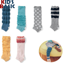 Baby Crawling Essential Pedal Children Socks Neonatal Warm Cotton Long Knee Knee is Moan Baby socks Six-Pairs/Lot