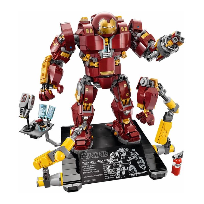 Iron Man Hulkbuster Legoings 76105 Marvel Ironman Avengers Super héros modèle blocs de construction garçons cadeaux d'anniversaire enfants jouets