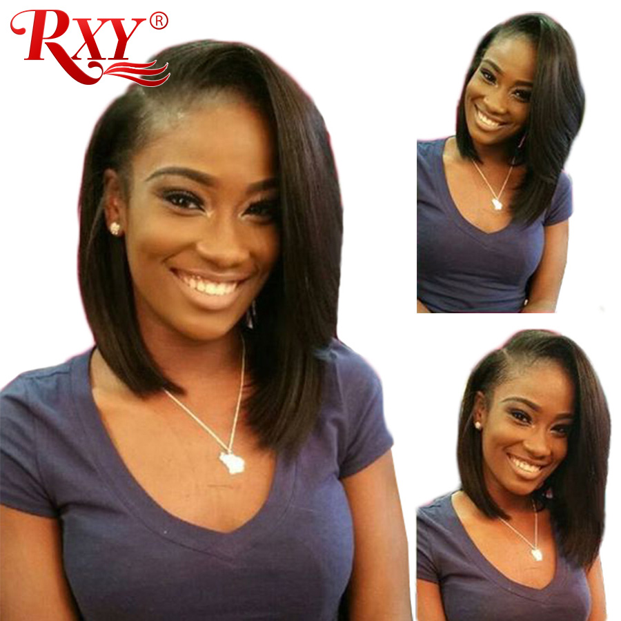 RXY Short Bob Wig Glueless Lace Front Human Hair Wigs For Black Women Remy Short Human Hair Bob Lace Front Wigs With Baby Hair