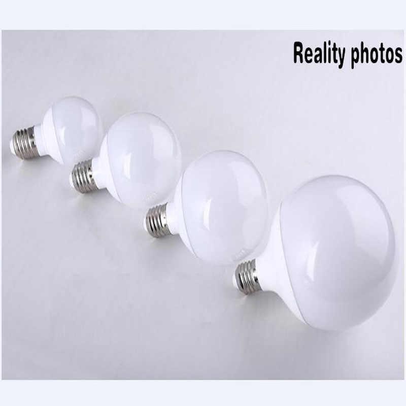 Bombilla LED para lámpara E27, 5W, 7W, 9W, 15W, 20W, 40W, 85-265V, 220V, lámpara blanca cálida y fría, foco de luz para casa, Bombillas, Bombilla LED