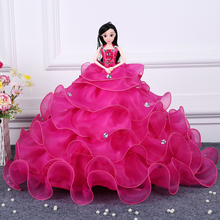 2017 Hot Sell 45CM Wedding Dress Doll Top Grade Toys Collection Get Married Dolls Birthday Present For Girls Gift For Children 9