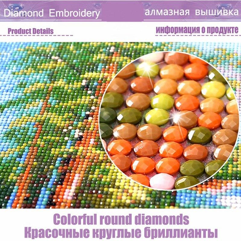 Full 5D Seascape Sunset Round Homlif Hobby Arts Crafts Decoration Embroidery Diamond Painting Landscape 3D Mosaic Diament