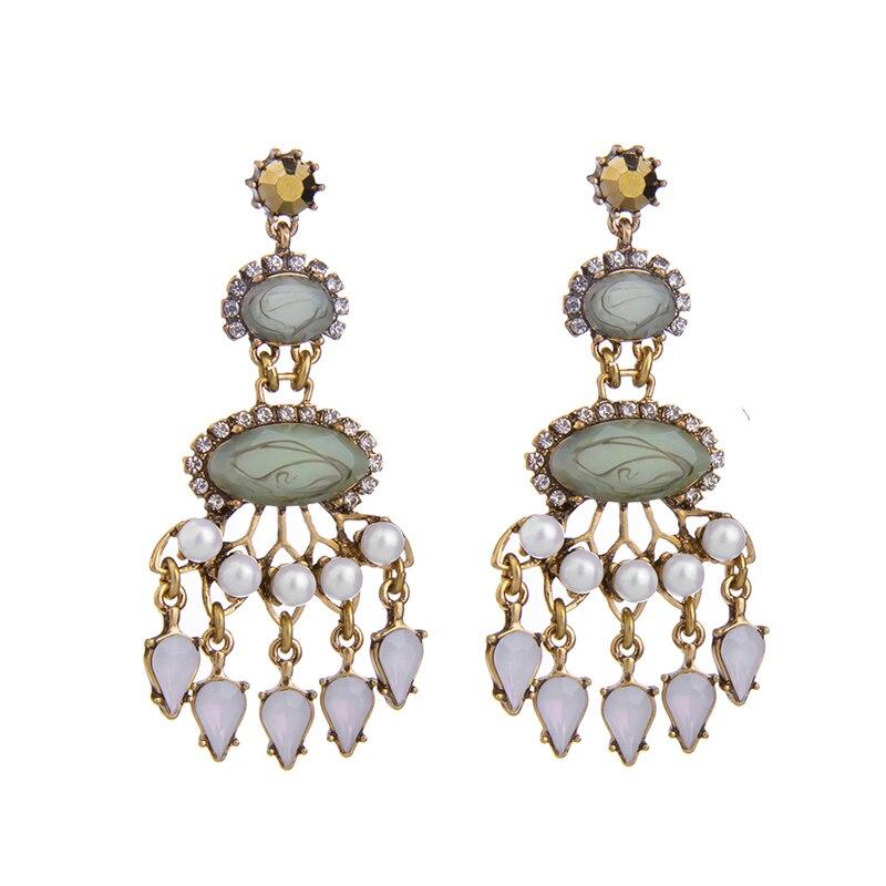 Statement jewelry for women patterned green chandelier earrings online shopping from india - Chandelier online shopping ...