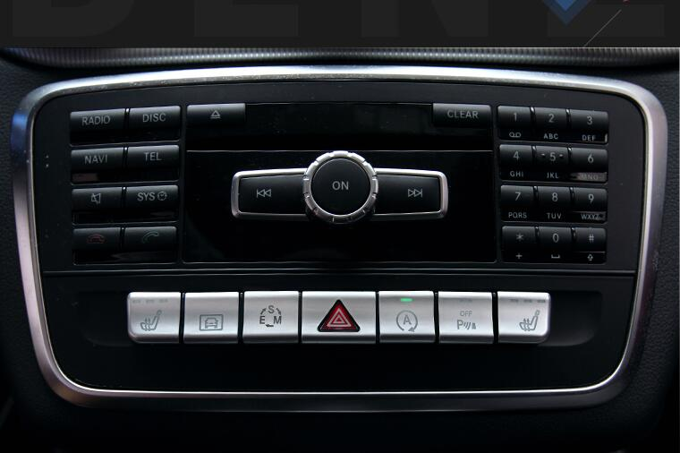 Car CD Button panel Cover stickers for Mercedes-Benz CLA/GLA/A class/B class accessories