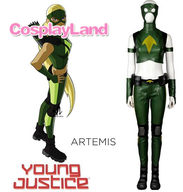 young justice artemis cosplay costume carnival halloween costumes