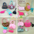 Free Shipping birthday gift for children girl accessory 5pcs different bagfor barbie dolls