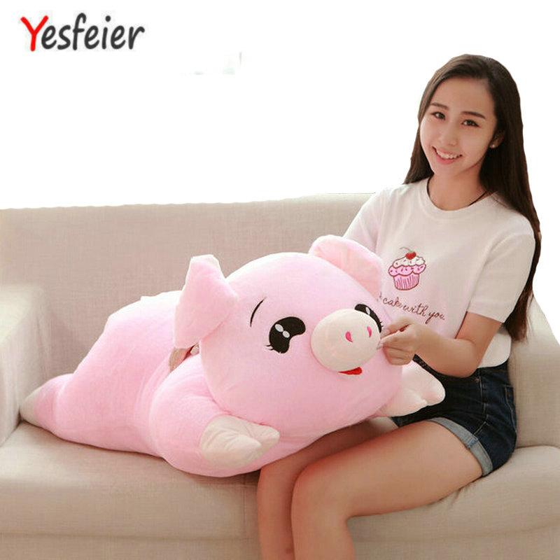 45-100 CM cartoon pink pig pillow cushion cloth doll baby Cute Pig plush toys stuffed animals toys birthday for children купить