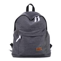 2016 Women Backpacks Canvas Shoulder School Bag Solid Colors For Teenagers Girls Travel Sports Bags Bolsas