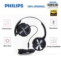 フィリップスプロ SHL3065 ノイズリダクション低音ワイヤー制御マイクヘッドバンドデザイン GalaxyS9/S9 +
