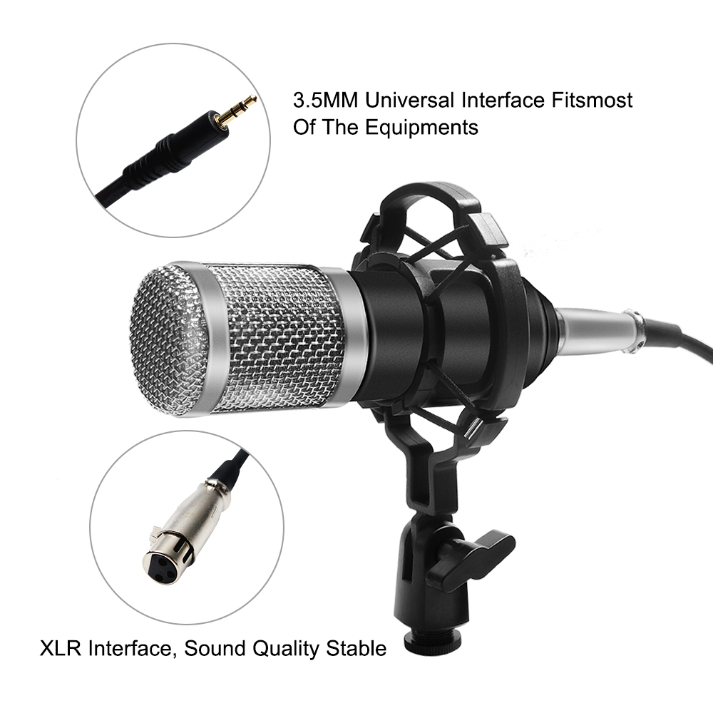 Professional bm 800 Condenser Microphone 3 5Mm Wired Bm 800 karaoke BM800 Recording Microphone for Computer Karaoke KTV in Microphones from Consumer Electronics