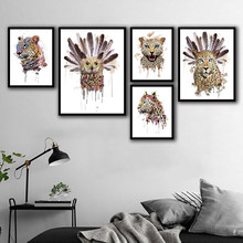 Quotes Canvas Painting Nordic Modern Animal Leopard Prints Creative Home Office Decor Wall Artwork Owl Pictures Poster Modular(China)