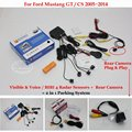 For Ford Mustang GT / CS 2005~2014 - Car Parking Sensors + Rear View Back Up Camera = 2 in 1 Visual / BIBI Alarm Parking System