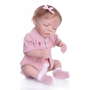 Image 2 - NPK 48 CM nouveau né bebe réaliste reborn doux corps entier silicone réaliste sommeil bébé anatomiquement Correct