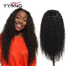 YYONG 12x3 Brazilian Kinky Curly Human Hair Wigs Lace Front Human Hair Wigs Remy Lace Frontal Wig For Black Women With Baby Hair new curly wave full lace human hair wigs for black women cheap lace front human hair wigs with baby hair free shipping