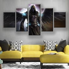 HD Print 5 Piece Game Canvas Art Fantasy Angel Poster Paintings On Modern Wall For Home Decorations Decor Framework