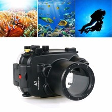 Meikon 40m/130ft Underwater Waterproof Camera Housing Kit for Sony A7/A7r/A7s  28-70mm lens meikon 40m 130ft waterproof housing case for sony a7 iii a7r iii a9 a7s ii a7ii a7r ii a7m3 camera wire angle dome port