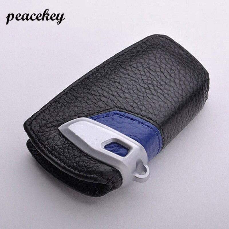 peacekey Genuine Leather Car Key Stickers Cover For Bmw Key Cover F30 F10 F20 New 1 2 3 4 5 6 7 Series X3 X4 320I 116I 118I