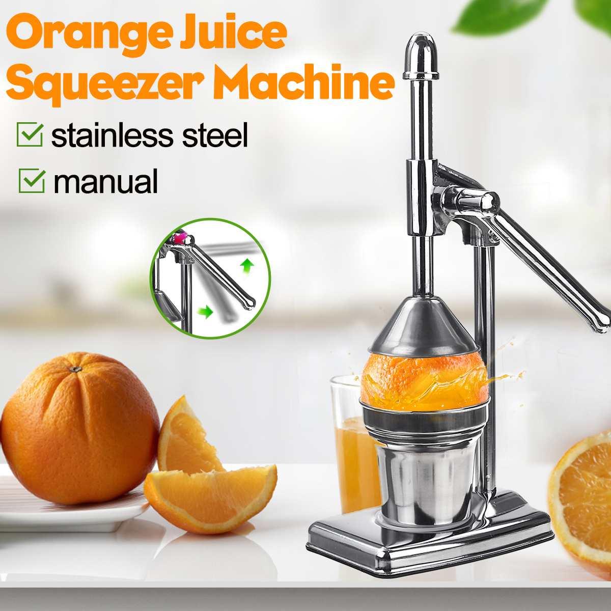 Сочная выжималка из нержавеющей стали для фруктов, машина для прессования апельсинов, лимонов, фруктов для кухни, дома
