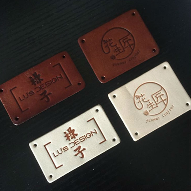 US $10 44 5% OFF Customized Logo Printing Service of Leather Card for Salon  Cafe Catering Bistro Bar Barbershop Apron Uniform (No Apron Included)-in
