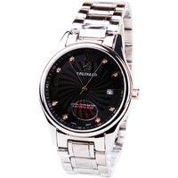 Rhinestone Double Calendar Steel Male Waterproof Steel Watch 163737