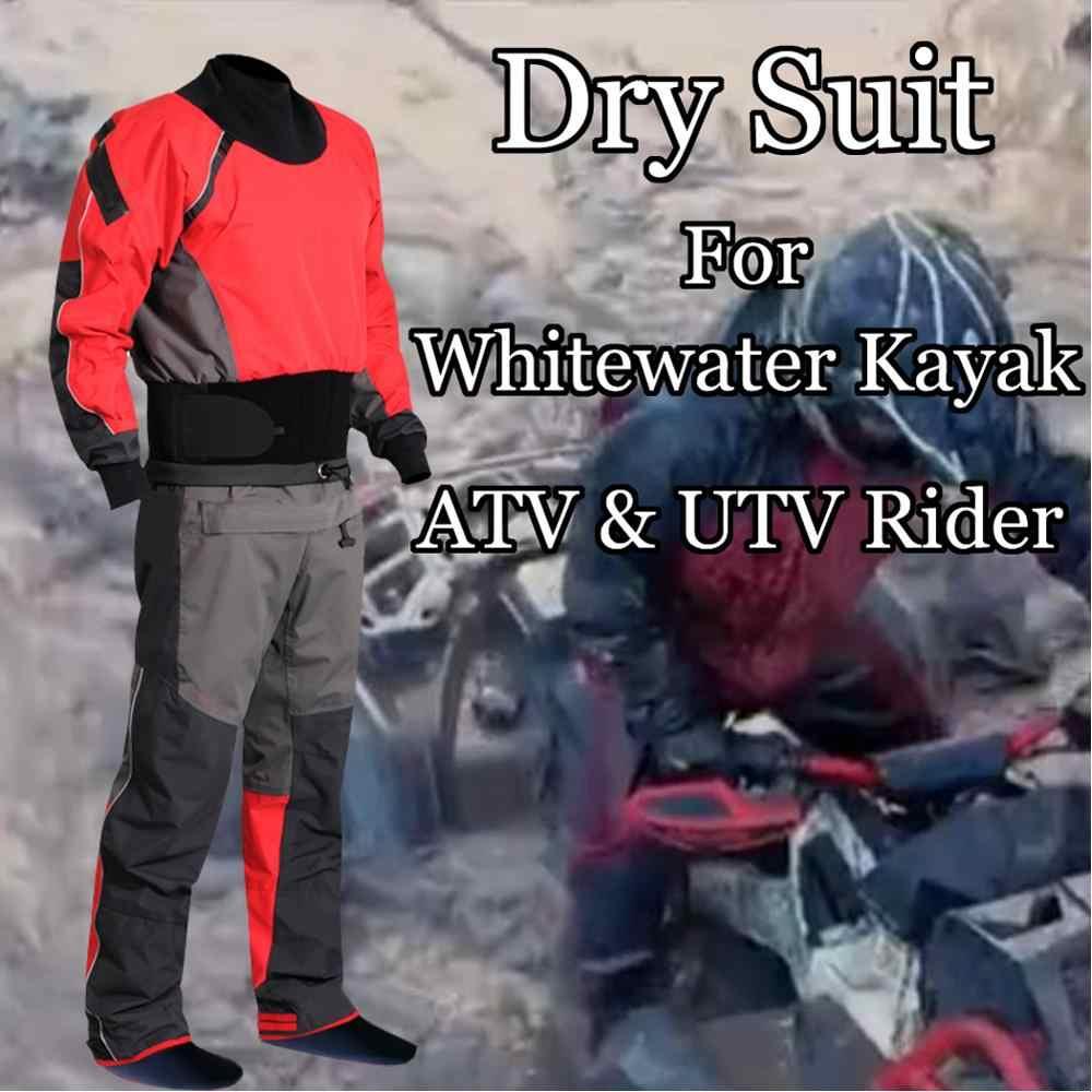 Setelan Kering Whitewater Kayak Drysuit Tahan Air Jas Hujan Ras Cocok untuk Lumpur ATV & UTV Rider Aktivitas Petualangan Berburu Memancing