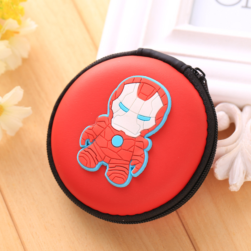 2017 Hot Gift Silicone Coin Purse Wallet Pouch Case Iron man Patterns Clutch Key Wallet Change Card Bag Headset EVA Coin Wallets novelty creative grenade shaped zippered key case coin pouch bag purse black
