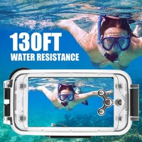 40M/130ft Water Resistance Underwater Diving Case Clear Photos Videos Diving Case for iPhone 8plus