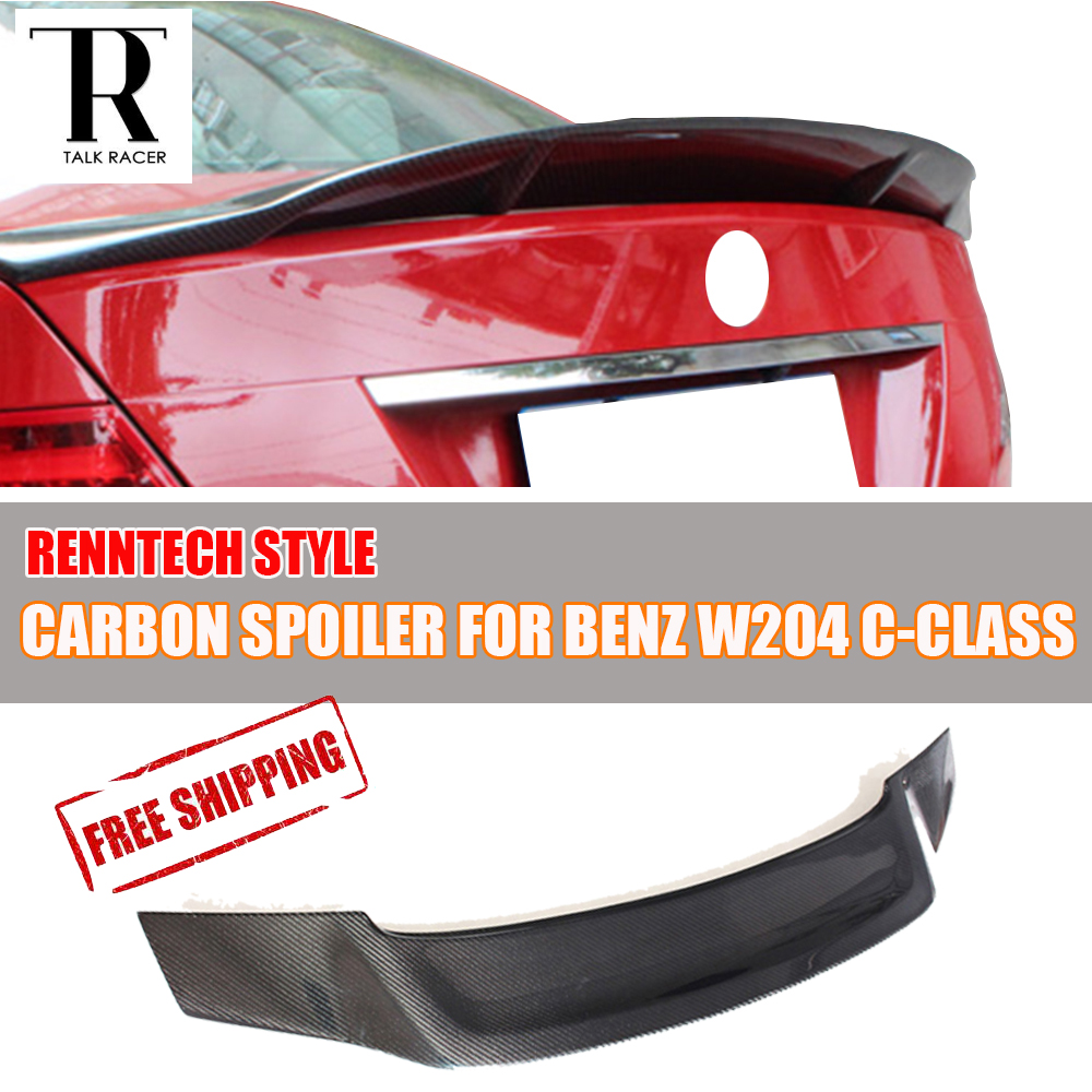 W204 R Стиль углеродного волокна задний багажник хвост спойлер для Benz W204 C CLASS седан 2007 2013