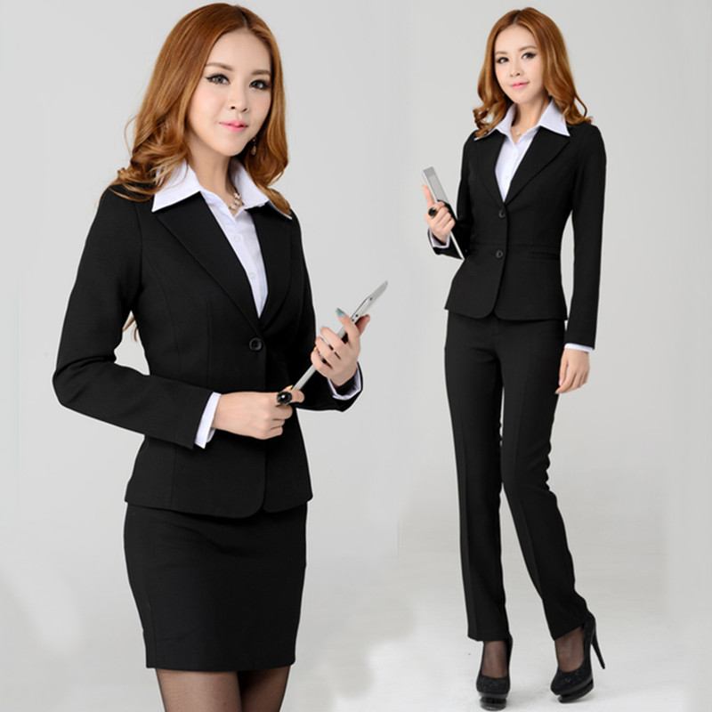 New Style Fashion Professional Uniform Pant Suits For Women Work Suits Blazer Ladies Formal