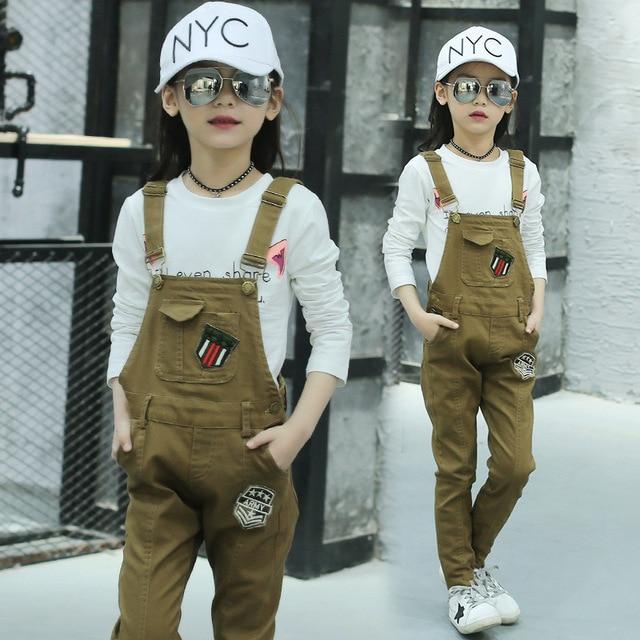 280fb247f Monos largos de invierno de color caqui para niñas adolescentes pantalones  ajustados ropa Casual de otoño
