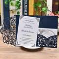 Cartes d'invitation de mariage 3 pièces | Découpées au Laser, 100 pièces pour fête prénatale mariage fiançailles anniversaire remise de diplôme voeux